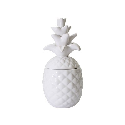 10.4oz Ceramic Pineapple-Shaped Container Candle Coconut Cucumber Water