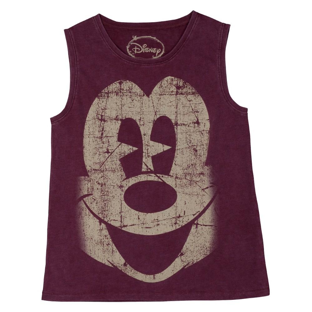 Women's Disney Mickey Mouse Muscle Tank Night Burgundy M(7-9), Purple