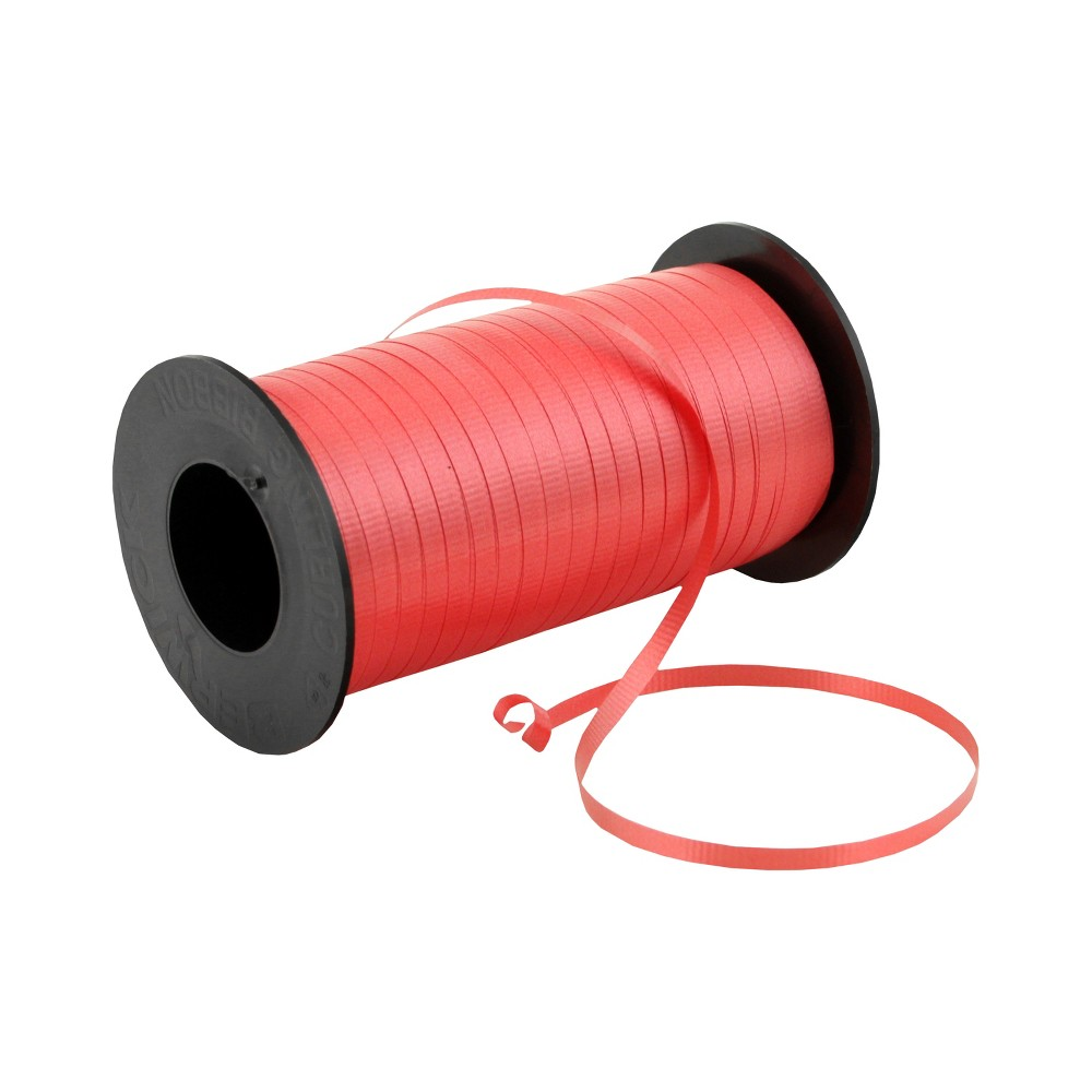 Red Curl Ribbon - Wondershop