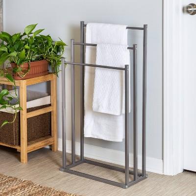 3-Tier Towel Rack Gray - Honey Can Do