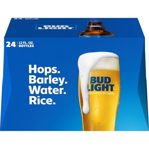 Bud Light Beer - 24pk/12 fl oz Bottles - image 1 of 2