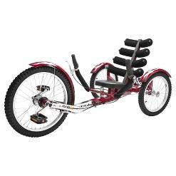 "Mobo Adult Shift 20"" Three Wheeled Cruiser - Maroon, Adult Unisex, Red"