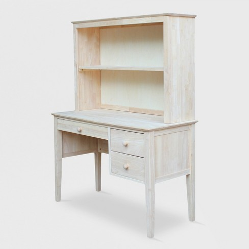 Brooklyn Desk with Hutch Unfinished - International Concepts - image 1 of 4