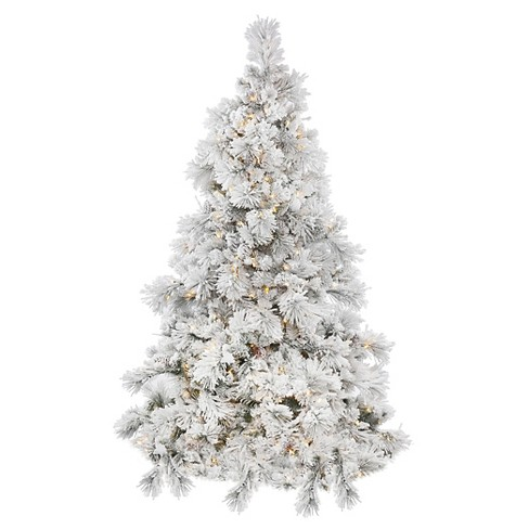 4.5ft Pre-Lit LED Artificial Christmas Tree Flocked Alberta Spruce Cone - White Lights - image 1 of 1