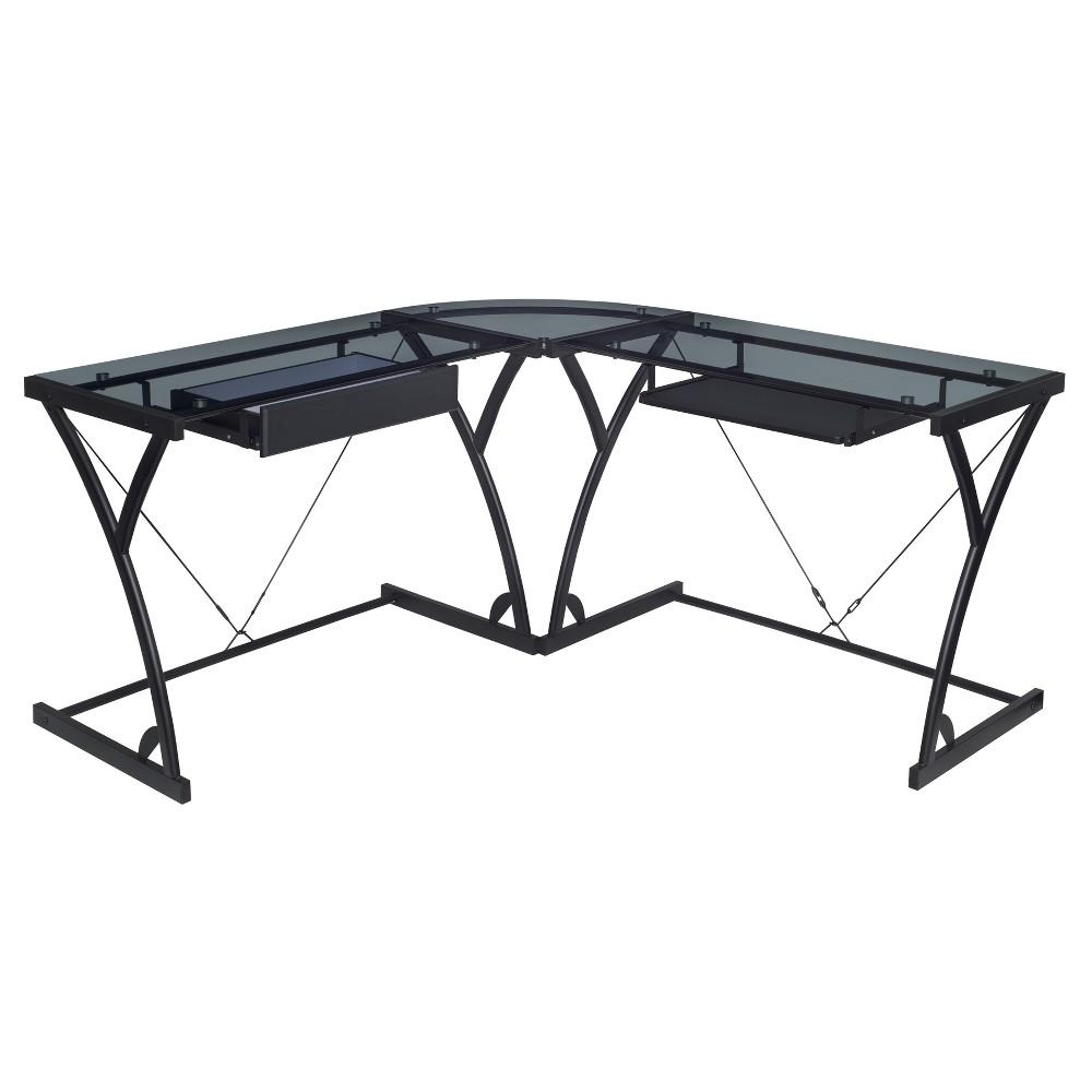 Image of Soho Computer Corner Desk Clear - Niche