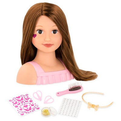 Our Generation Hair Play Styling Head Doll with Accessories - Talia