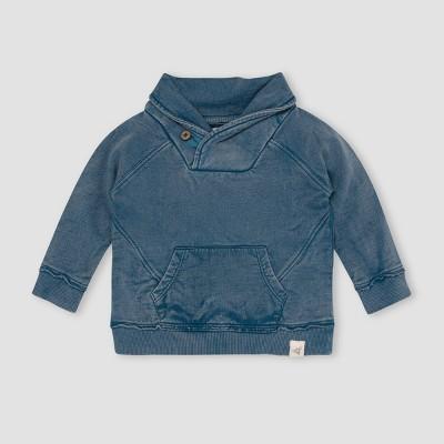 Burt's Bees Baby® Baby Boys' French Terry Acid Wash Sweatshirt - Blue