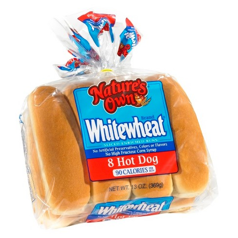 Natures Own Whitewheat Hot Dog 8ct - image 1 of 1