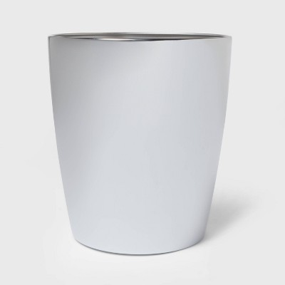 Steel Round Wastebasket Chrome - Threshold™
