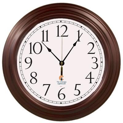 "16"" Boardroom Decorative Clock Mahogany - The Chicago Lighthouse"