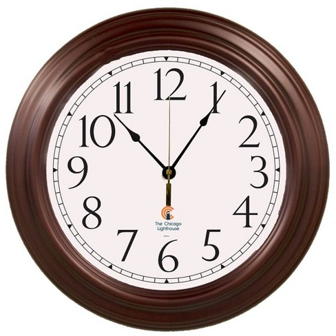 """16"""" Boardroom Decorative Clock Mahogany - The Chicago Lighthouse - image 1 of 2"""