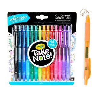 Crayola Take Note! 14pk Washable Gel Pens