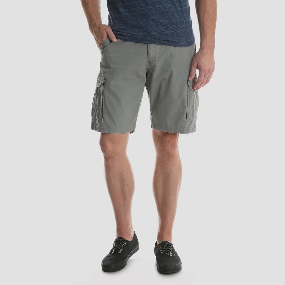 Wrangler Men's 10 Ripstop Cargo Shorts - Gray 42