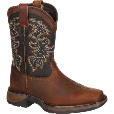 LIL' DURANGO Toddler Boys' Tan & Black Western Boot