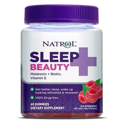 Natrol Sleep + Beauty Sleep Aid Gummies - Raspberry - 60ct