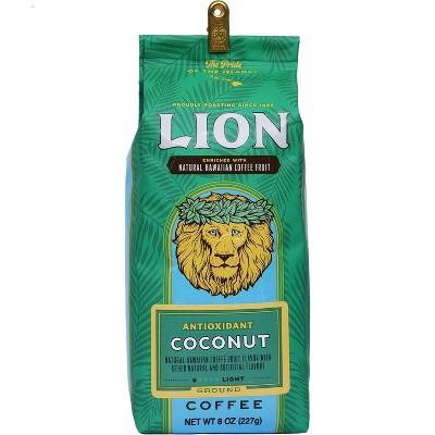Lion Coffee Coconut Antioxidant Rich Medium Roast Ground Coffee - 7oz