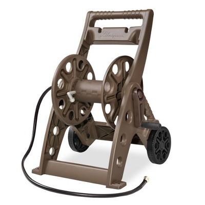 Liberty Garden 514 2 Wheel 225 Foot Capacity Resin Folding Frame Garden Water Hose Reel Cart, Bronze