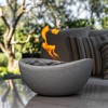Wave Table Top Fire Bowl - Gray - Terra Flame - image 3 of 4