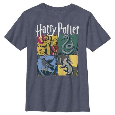 Boy's Harry Potter Hogwarts Houses Vintage Collage T-Shirt