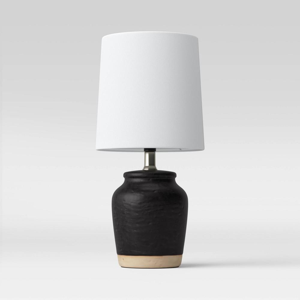 Textural Ceramic Mini Lamp Includes Led Light Bulb Black Threshold 8482