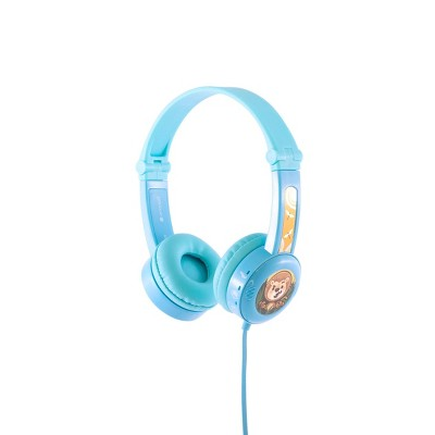 BuddyPhones Travel Wired Headset - Blue