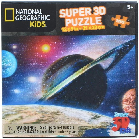 Zoofy International National Geographic Kids Earth and Beyond 100 Piece Super 3D Kids Jigsaw Puzzle - image 1 of 3