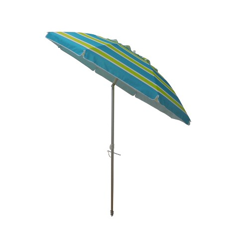 7 Beach Umbrella With Travel Bag Blue Lime Green Parasol Target