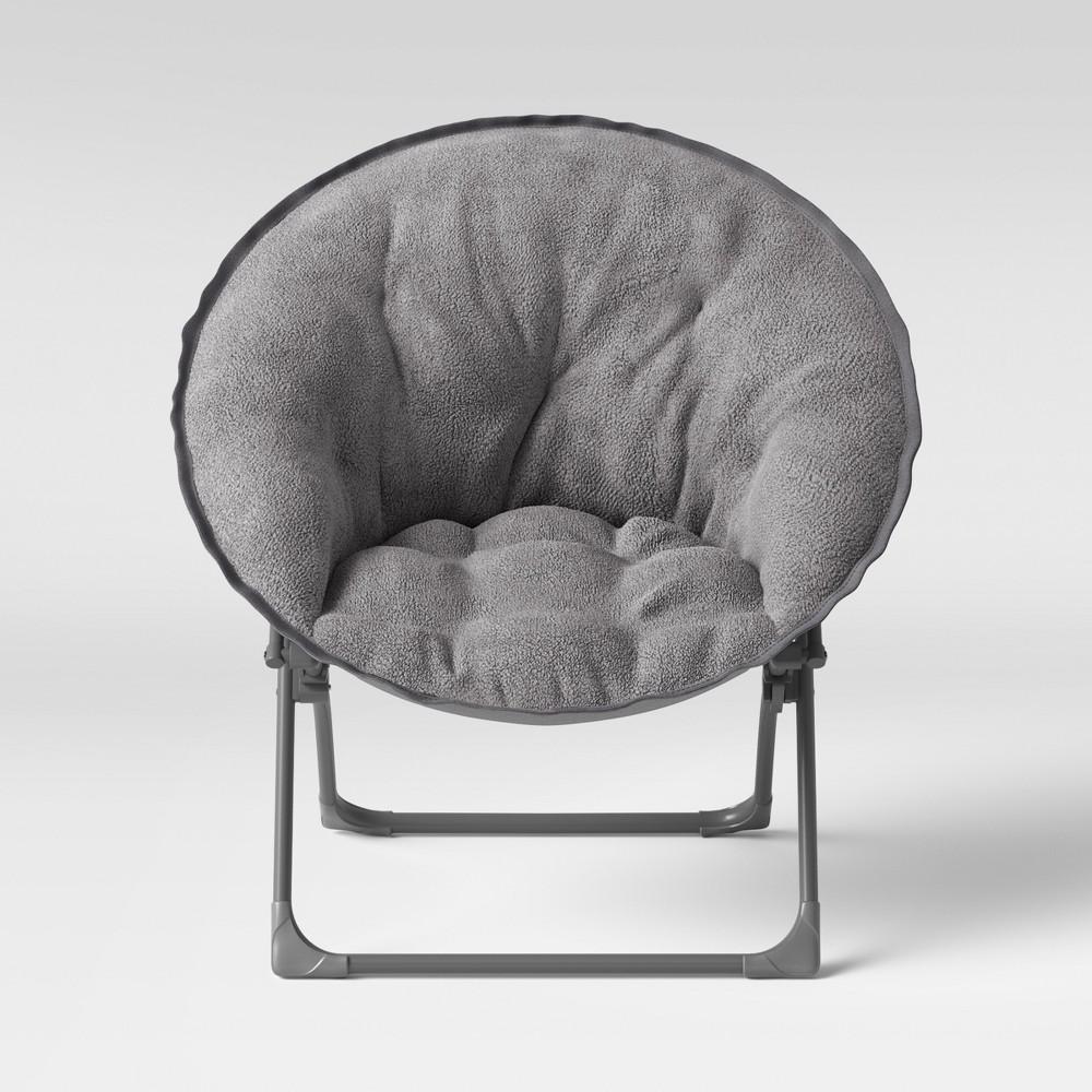 Fuzzy Kids Saucer Chair Gray - Pillowfort