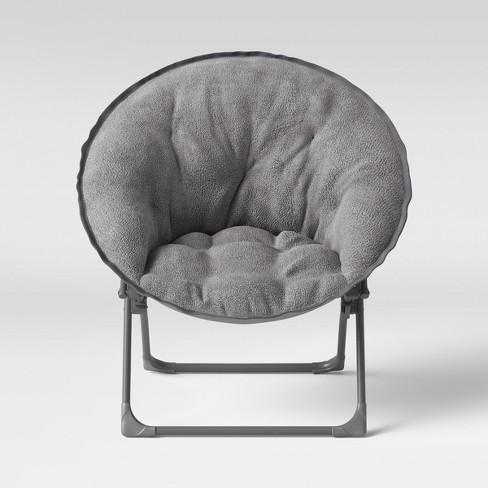 Awe Inspiring Fuzzy Kids Saucer Chair Gray Pillowfort Pabps2019 Chair Design Images Pabps2019Com