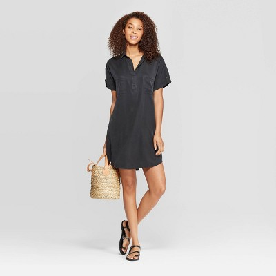 Women's Short Sleeve Collared At Knee Shirtdress   Universal Thread by Universal Thread