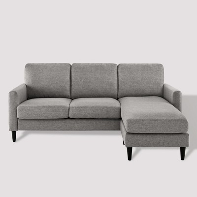 Verona Mid Century Reversible Sectional Gray - Dorel Living
