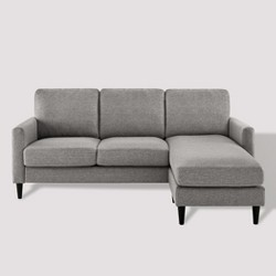 Remarkable Thelma Sectional Sofa Gray Polished Microfiber Acme Target Andrewgaddart Wooden Chair Designs For Living Room Andrewgaddartcom