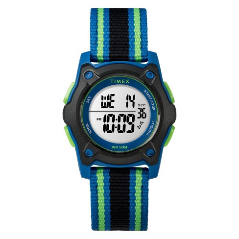 Kid's Timex Digital Watch With Striped Strap - Black TW7C26000XY - image 1 of 3