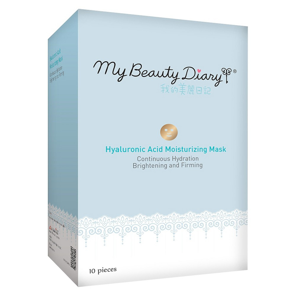 Image of My Beauty Diary Hyaluronic Acid Hydrating Face Mask - 10ct