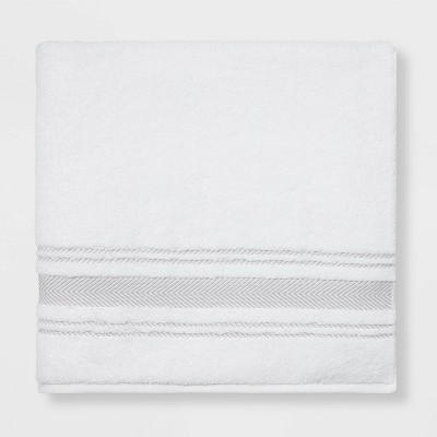 Performance Bath Sheet Light Gray Stripe - Threshold™