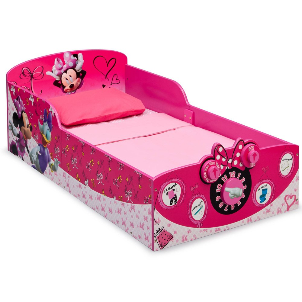 Image of Toddler Disney Minnie Mouse Interactive Wood Bed - Delta Children