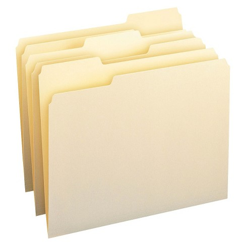 Smead® 1/3 Cut Assorted One-Ply Top Tab Letter File Folders- Manila (100 per Box) - image 1 of 1