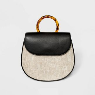 Acrylic Handle Backpack - A New Day™ Natural Linen/Black