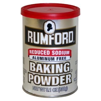 Rumford Reduced Sodium Baking Powder 8.1 oz