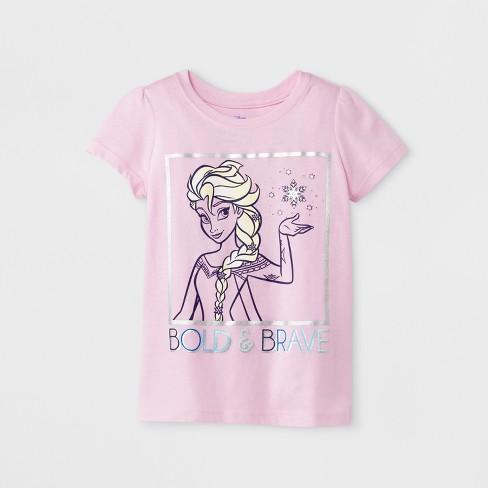 a061ddee Toddler Girls' Disney Princess Frozen Elsa Short Sleeve T-Shirt - Pink