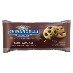 Ghirardelli 60% Cacao Bittersweet Chocolate Premium Baking Chips - 10oz