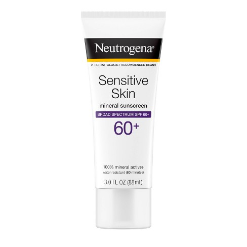 Neutrogena Sensitive Skin Sunscreen Broad Spectrum - SPF 60+ - 3 fl oz - image 1 of 4