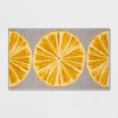 "34"" x 20"" Latex Lemon Slice Kitchen Rug - Threshold™"