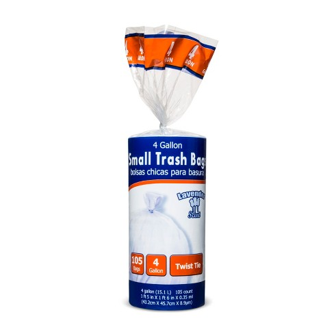 Twist Tie 4gal Lavender Scented Small Trash Bags - 105ct - image 1 of 1