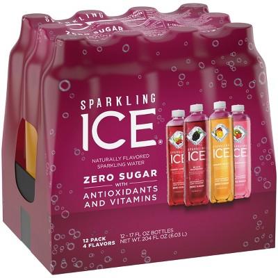 Sparkling Ice Variety Pack-Black Raspberry/Orange Mango/Kiwi Strawberry/Cherry Limeade - 12pk/17 fl oz Bottles