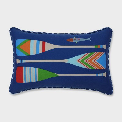 Lake Life Oars Accent Pillow Blue - Pillow Perfect