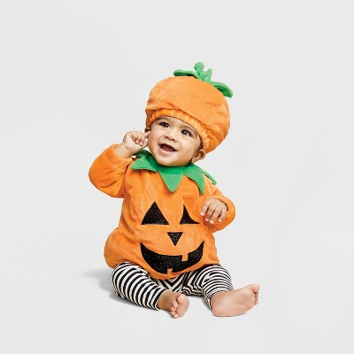 Baby Pullover Pumpkin Costume with Hat 0-6M - Hyde & EEK! Boutique™
