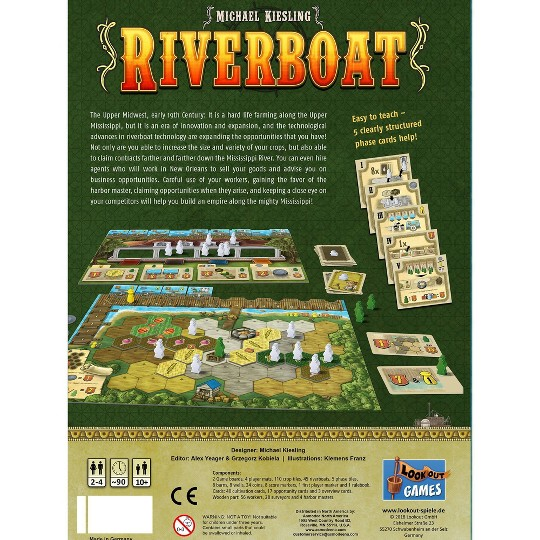 Lookout Riverboat Board Game image number null