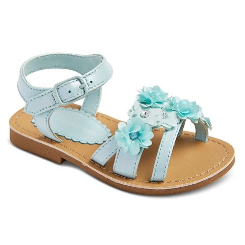 Toddler Girls' COVERGIRL Floral Sandals - Mint Green 11 - image 1 of 3