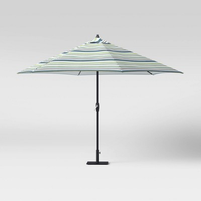 9' Patio Umbrella DuraSeason Fabric™ Green Stripe - Threshold™